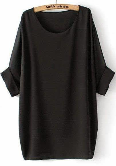 Loose dress in scuba cotton fabric