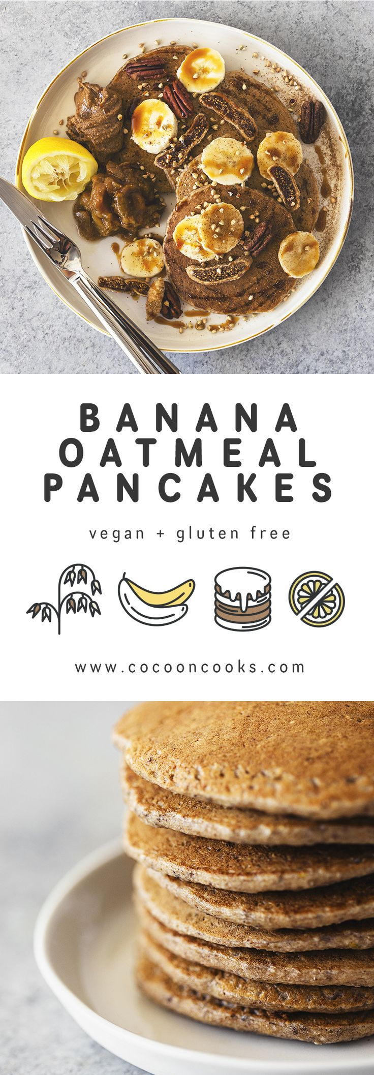 ... Oatmeal Pancakes on Pinterest | Vegan Oatmeal, Oatmeal Pancakes and