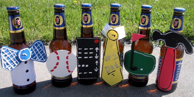 Kids can each decorate a bottle for Bill for Father's day.