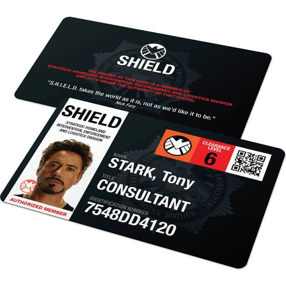 Agents of Shield ID Card - Avengers, Marvel Cosplay Badge, Cosplay Props, Phil Coulson, Captain America, Hulk