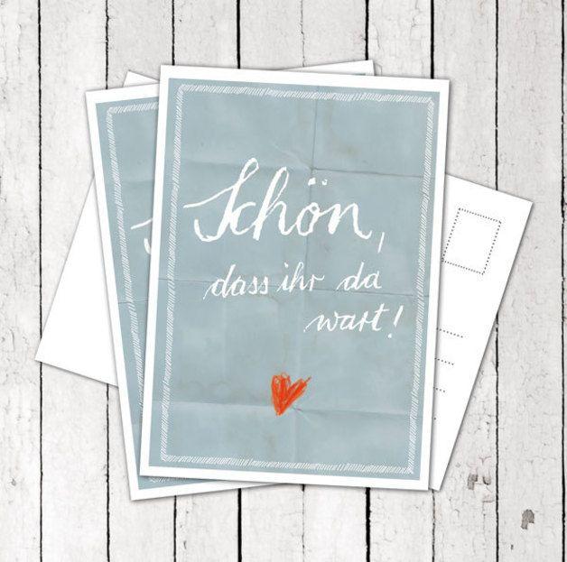 30 Danksagungs-Postkarten: Schön, dass ihr da wart