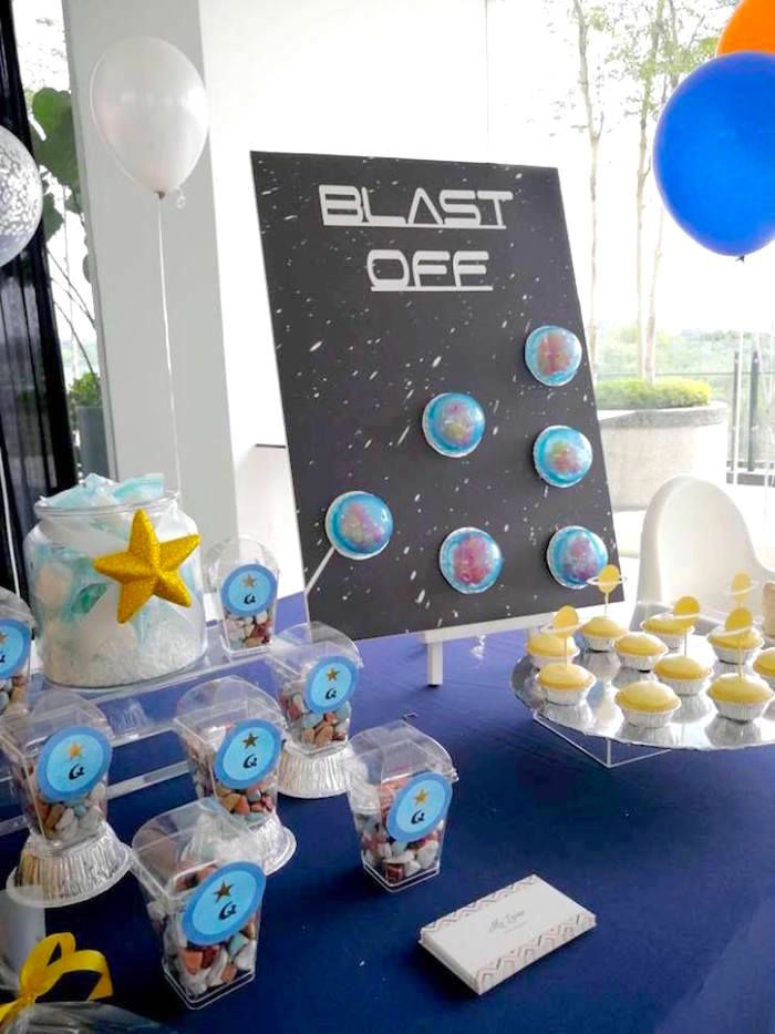 inter-galactic birthday party decor Space Party Cupcake Picks planet themed party space party supplies outer space cupcake topper 25ct