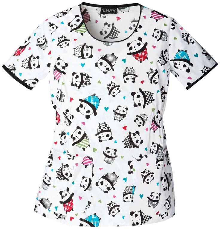 Round Neck Top. Pandas :)
