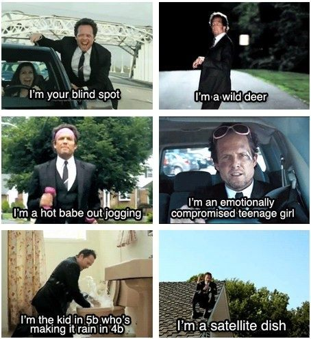 "Mayhem. my favorite commercials.  ""I just got a text from Chelsea saying she likes John...which is a bad thing because I like John."""