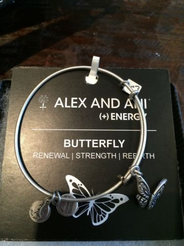 ALEX AND ANI Bracelet Silver Butterfly