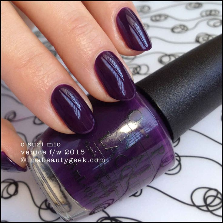 Opi O Suzi Mio Nail Polish From Its Fall Winter 2017 Venice Collection What A Wonderful Color So Pretty