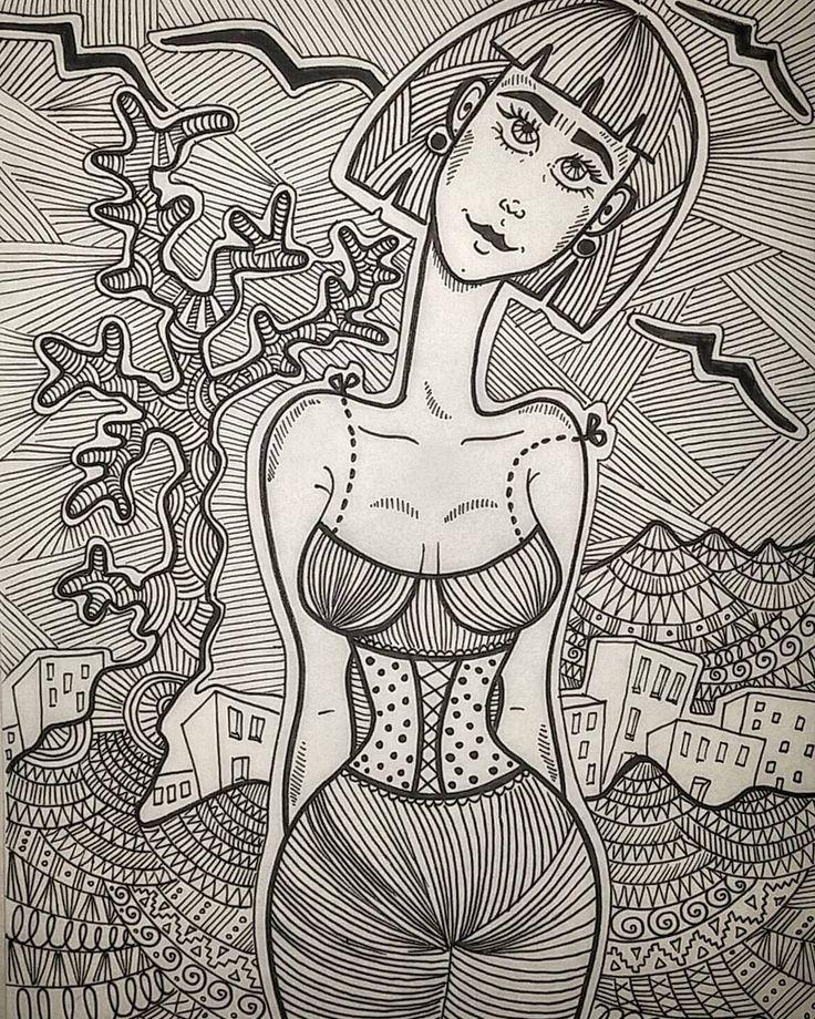 #doodle #doodlestyle #doodling #doodlewoman #doodlebrust #doodlelady #womaninillustration #womaninart #fridakahlo #fridakahloinart #fridakahloinspireme
