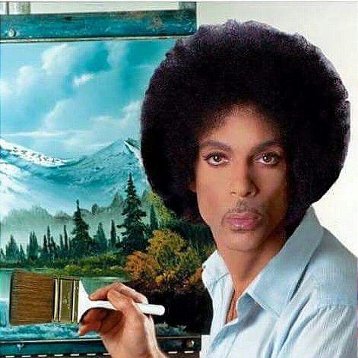 prince as bob ross