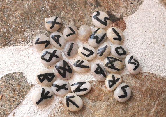 Elder Futhark runes, hand made runes, pocket sized runes, divination, Nordic Asatru, Viking Germanic, Heathen paganism, yule gift idea
