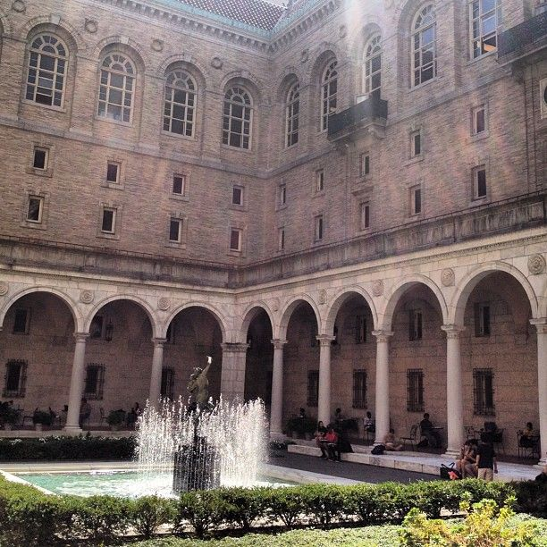 the gorgeous open-air courtyard at the Boston Public Library is one of the best-kept secrets in the city. A lovely spot to take a break from the hustle and bustle