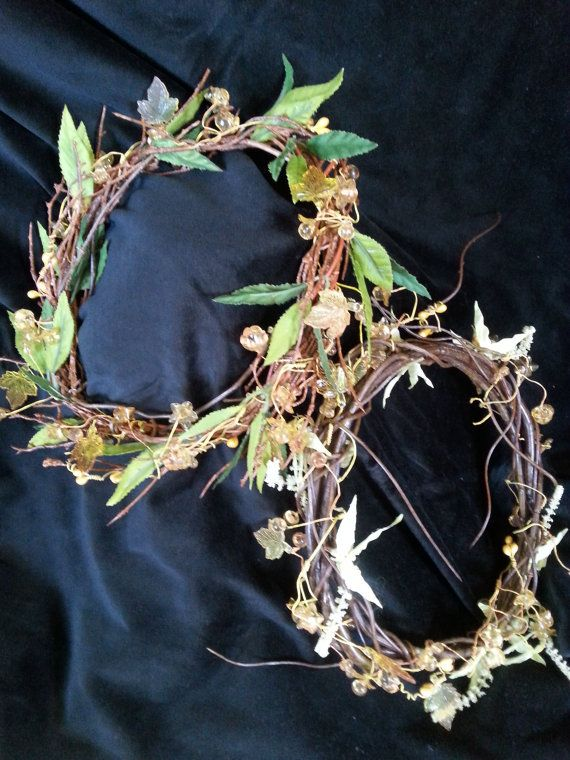 OBERON & TATANIA WREATHS/Crowns by treasuredlight on Etsy