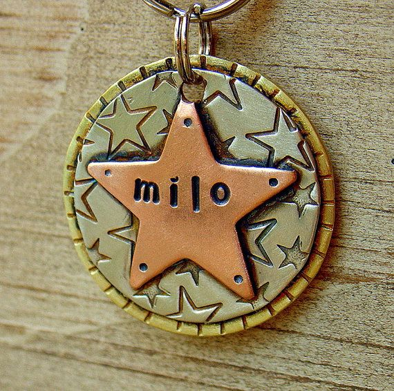 Hey, I found this really awesome Etsy listing at https://www.etsy.com/listing/83166715/to-the-stars-custom-pet-id-tag-medium