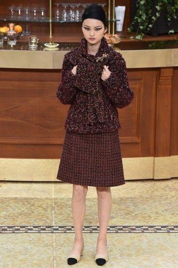 Giacca rossa e viola Chanel autunno inverno 20152016