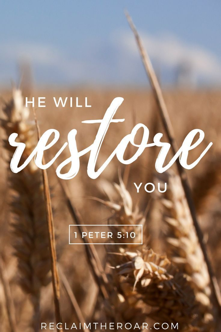 and after you have suffered a little while, the God of all grace, who has called you to his eternal glory in Christ, will himself restore, confirm, strengthen, & establish you. 1 peter 5:10; depression, anxiety, mental health, bible verses, scripture