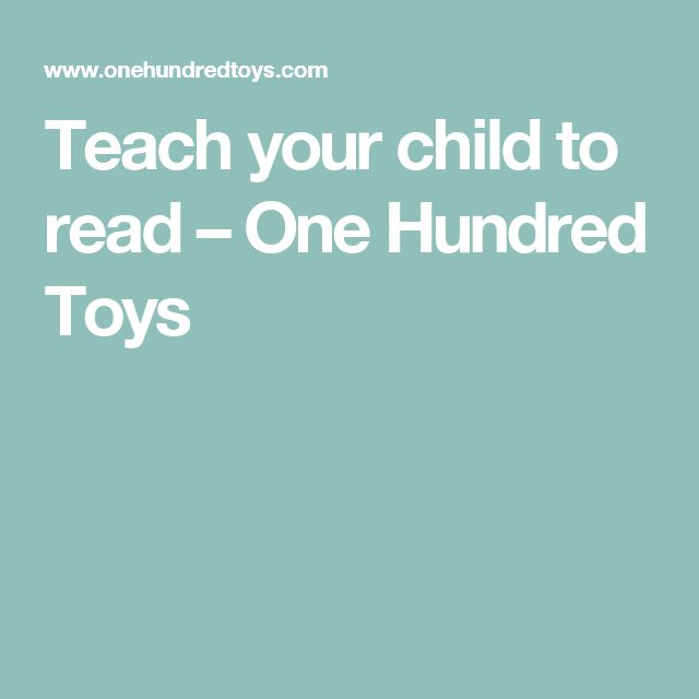 Teach your child to read – One Hundred Toys