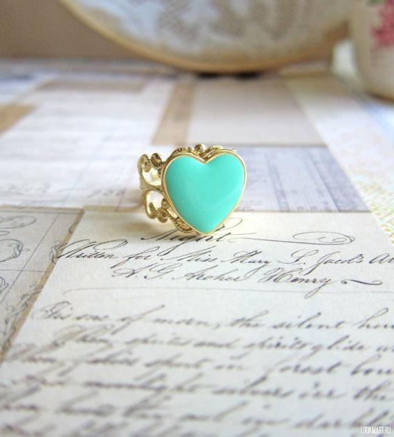 Винтажное кольцо с сердцем