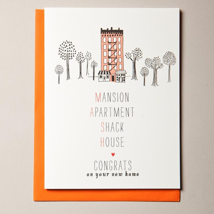 MASH housewarming card