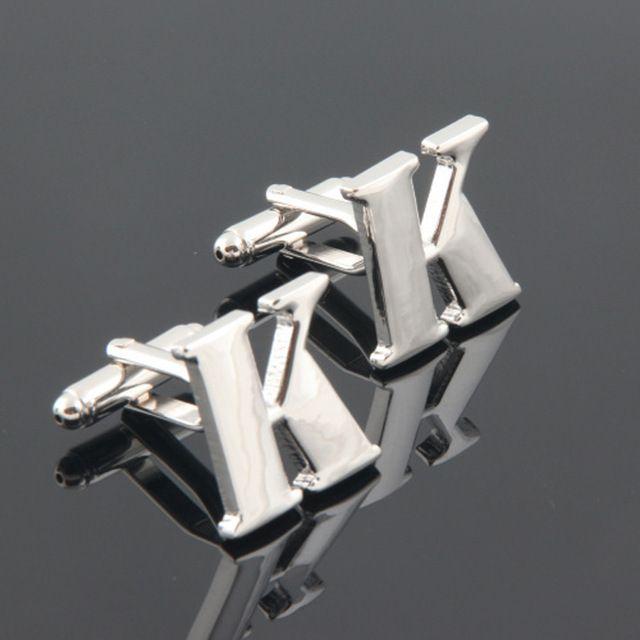 Mayúscula K gemelos de acero inoxidable manga de la camisa francesa, hombre gemelos gemelos accesorio. 68.24609. envío gratis