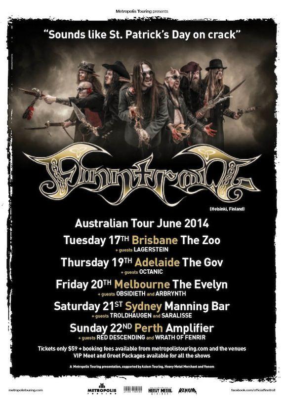 Finntroll Australian Tour Poster 2014.