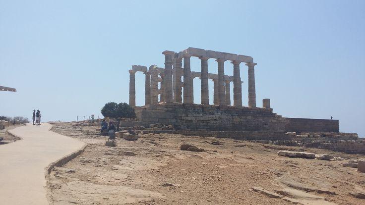 #sounio #athens #greece #roadtrip #temple of #poseidon #naosposeidona
