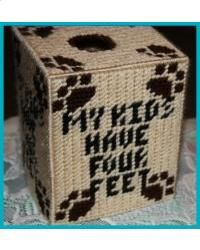 My Kids Have Four Feet Tissue Box Cover