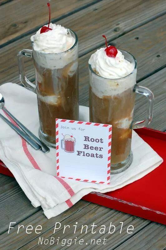 16 Best Root Beer Float Birthday Party Diy Printables