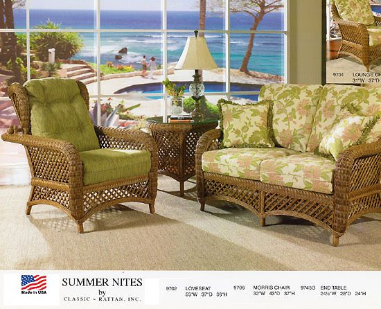 Summer Nites Model 9700 Wicker Furniture from Classic Rattan