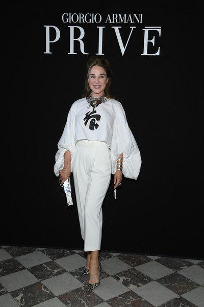 45c10c625ee Giorgio Armani Prive  Front Row - Paris Fashion Week - Haute Couture Fall  Winter 2018 2019