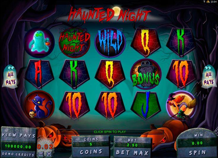 Haunted Night on erittäin hyvää kolikkopeli verkossa! Pelissa on mahsolisuus kaikkilla voitta suuret rahasummat, ihana hrafiikka ja paljon erilaista bonuksia kaikkille pelajaalle!