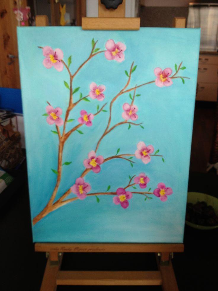 Eerste schilderij gemaakt op schildercursus