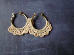 Upcycle some plain old hoop earrings with this Lacy Crochet Hoops pattern. These light and lacy crochet earrings are a nice scrapbuster project.