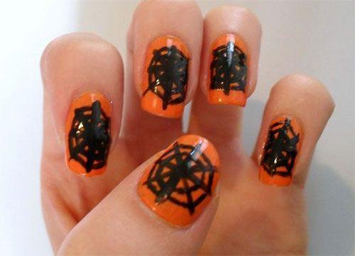 15+ Halloween Spider Web Nageldesign Ideen & Aufkleber 2017 - Nageldesign