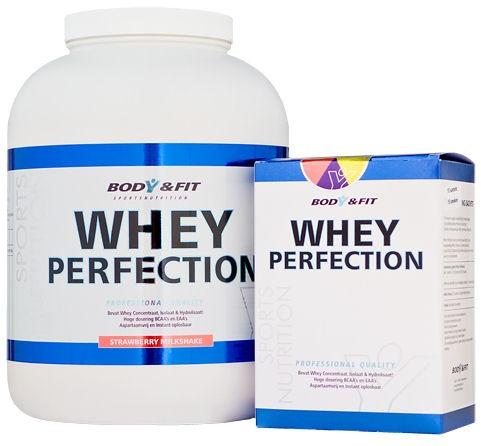 Whey Perfection Superactie! Jouw kans om de nieuwste en lekkerste Whey Perfection smaken extreem voordelig te proberen. Eenmaal aan de Whey Perfection wil je echt nooit meer een andere Whey Proteine. Whey Perfection is op elk front onverslaanbaar; kwaliteit, prijs en smaak! De Nr1 Whey Proteine voor Fitness, krachtsport, bodybuilding, afslanken en (eiwit)dieet.    Verkrijgbaar via http://bodyenf.it/TM6vCc