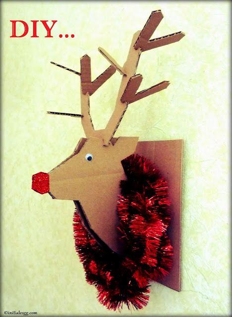 DIY : un trophée de renne en carton!