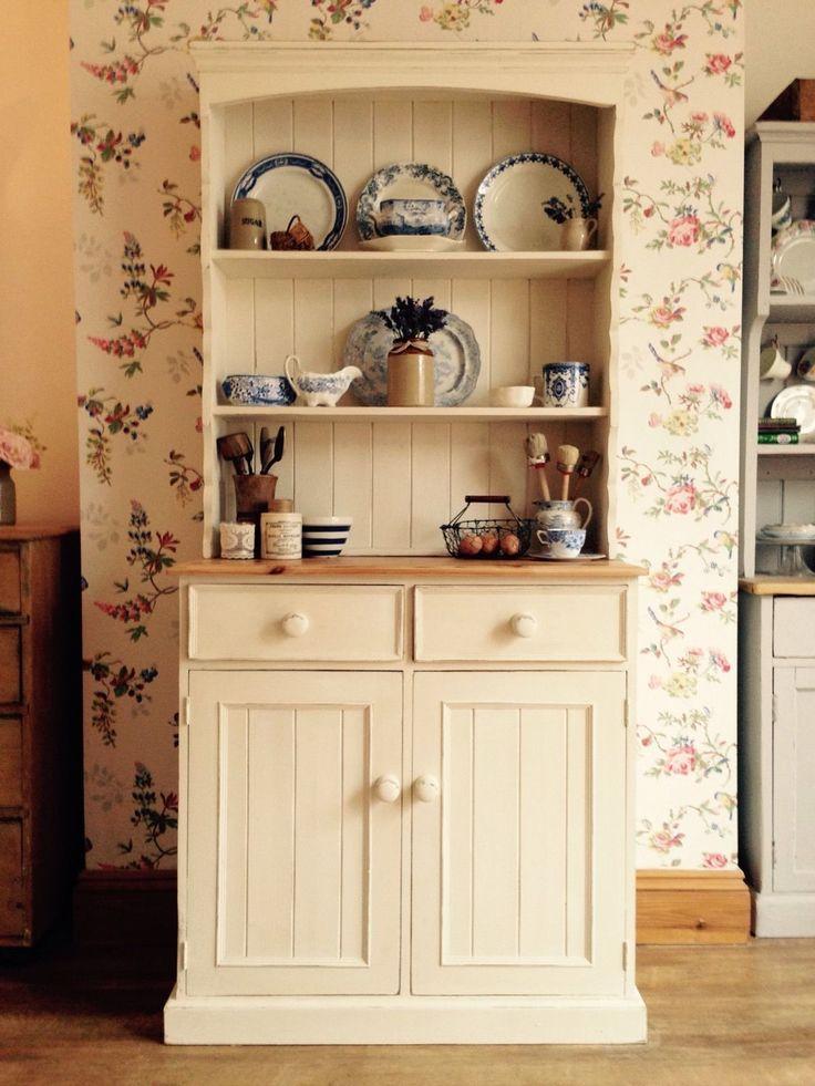 Shabby Chic Solid Pine Farmhouse Dresser In Annie Sloan
