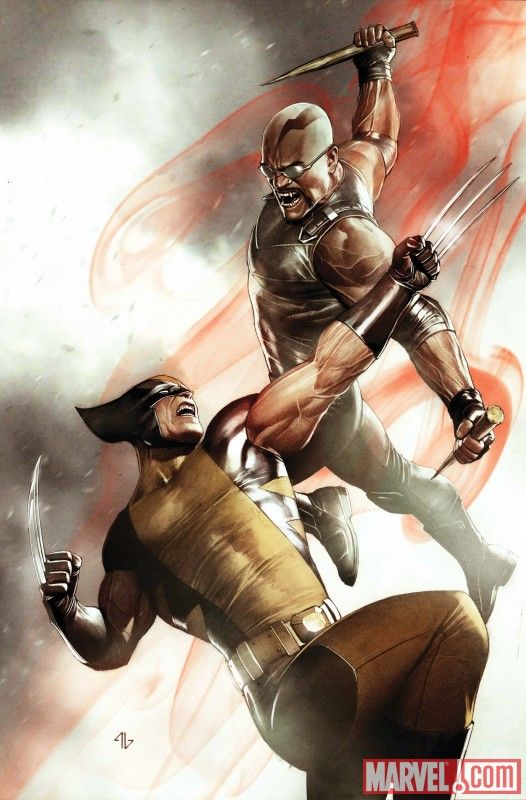Blade vs. Wolverine by Adi Granov