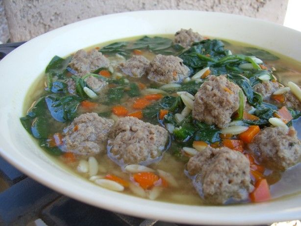 Italian Wedding Soup from Food.com. We recommend Fresh Express Spinach for this dish.