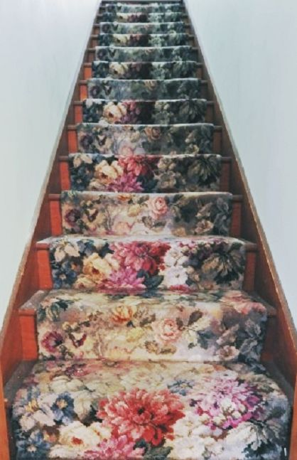 :floral stair runner