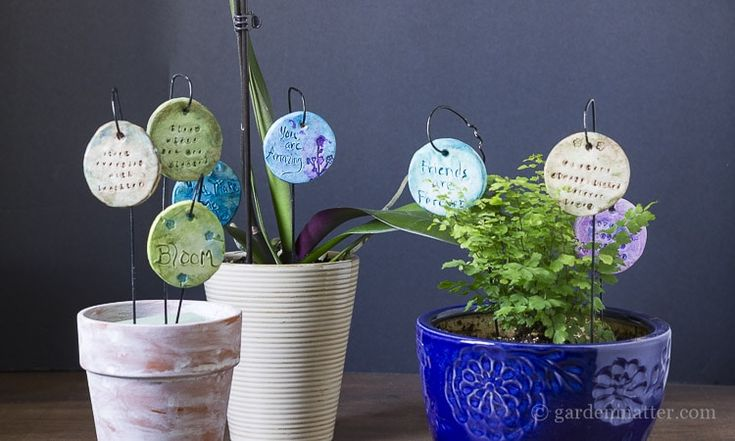 Planter Accessories: How to Make Garden Charms | Hearth & Vine