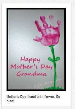 Mother's Day / Grandma / Father's Day handprint gifts made by your child from Creating Sarah - great DIY gift for Mom!