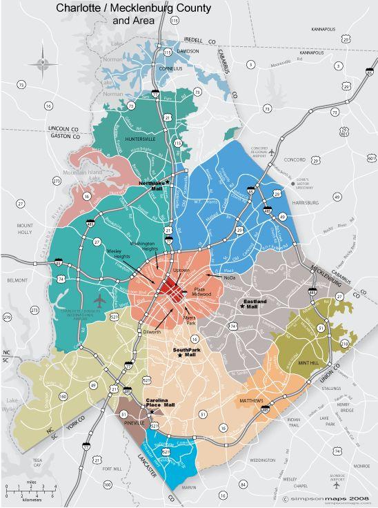 mecklenburg nc county map