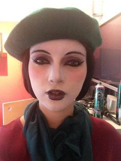 Miss Spider - like the beret and the make up - since our Spider will also be Aunt Spiker - this makeup could work for both characters