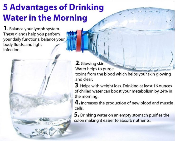 drinking water in morning