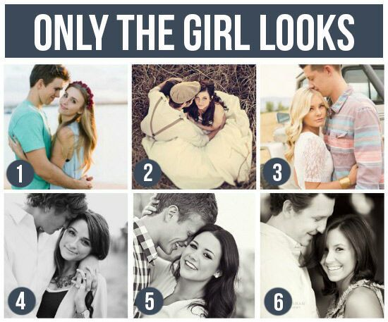 Pose Ideas for Couples: Only The Girl Looks