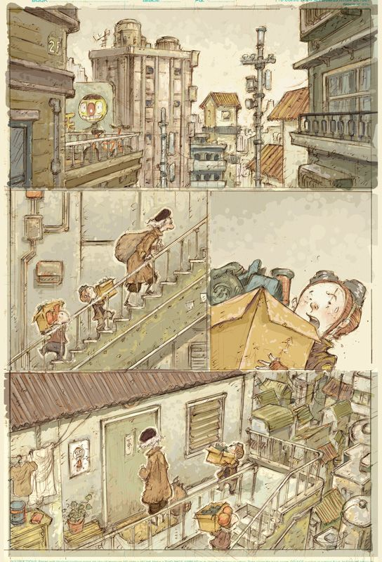 Moving Day  (Original Comic Page) 432mm (h) x 279mm (w) Pencil on Paper Sonny Liew