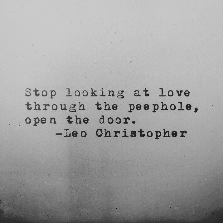 Leo Christopher • Peephole • My book, Sleeping In Chairs, will be released on August 28th through Underwater Mountains Publishing