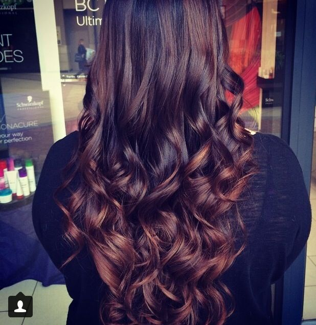 Chocolate Brown Ombre Hair Color | chocolate latte