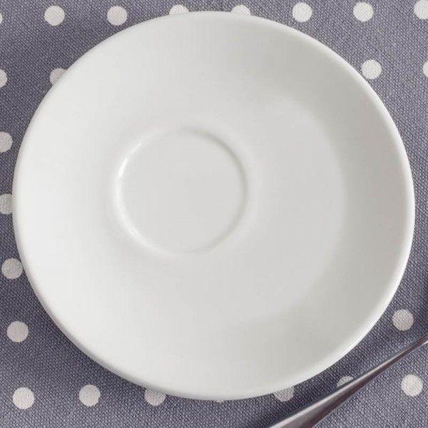 tazza bianca caffè | tazze da caffè in porcellana bianca con piattino decentrato