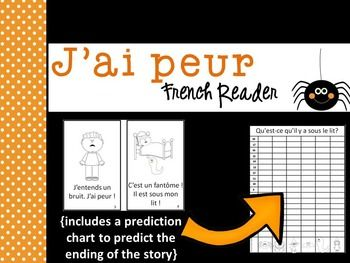 French emergent reader/book and prediction graphing chart about being afraid thinking something is under the bed. Perfect for reading in October ~ or any time of the year!