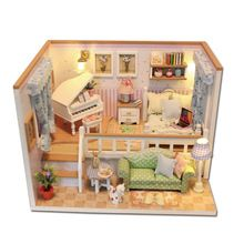 Diy Miniature Wooden Doll House Furniture Kits Toys Handmade Craft Miniature Model Kit DollHouse Toys Gift For Children M026 Sale Price:  US $19.93